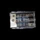 Portafusibile triplo AFS con  fusibili a scelta 50A / 80A / 100A - IN 3x35mmq - OUT 3x 25mmq