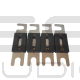 4 Fusibili ANL 150A laccati argento  per portafusibili ANL