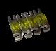 4 Fusibili ANF 100A laccati argento  per portafusibili mini ANL